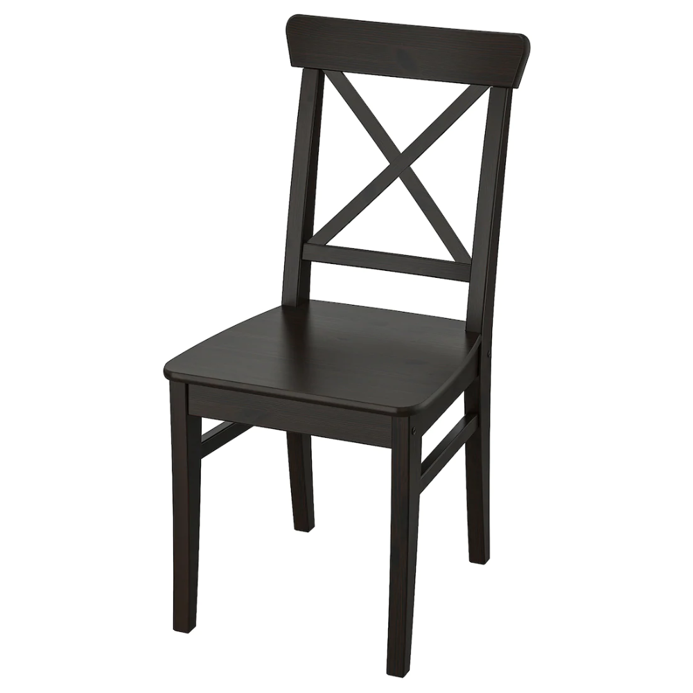 Ingolf Chair Brown Black Ikea Ikea Chair Wooden Texture