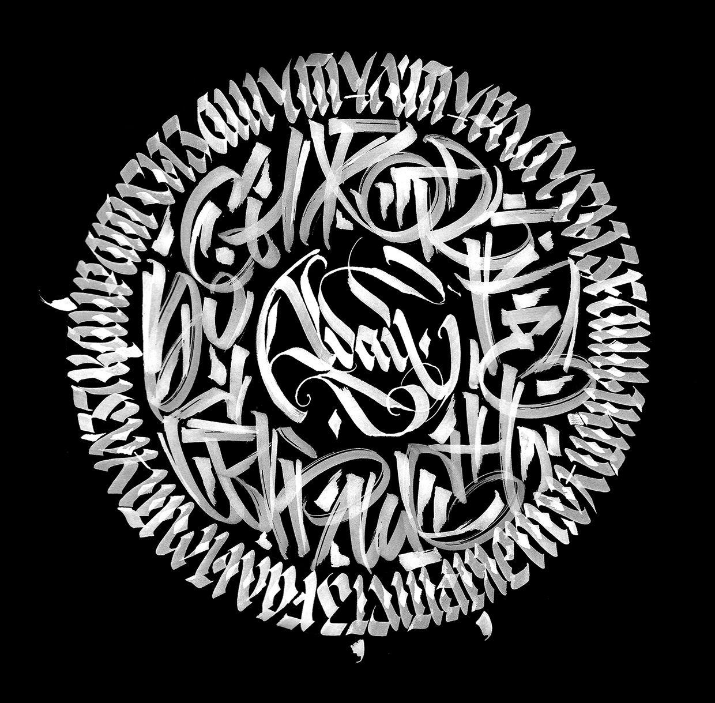 Calligraphy logo on behance lettering