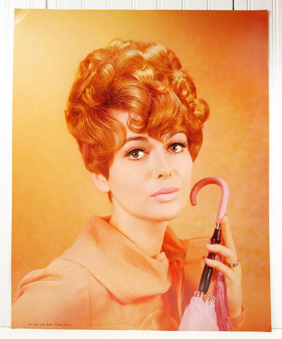 Vintage Poster Beauty Shop 1960s Hair Style Of The Month