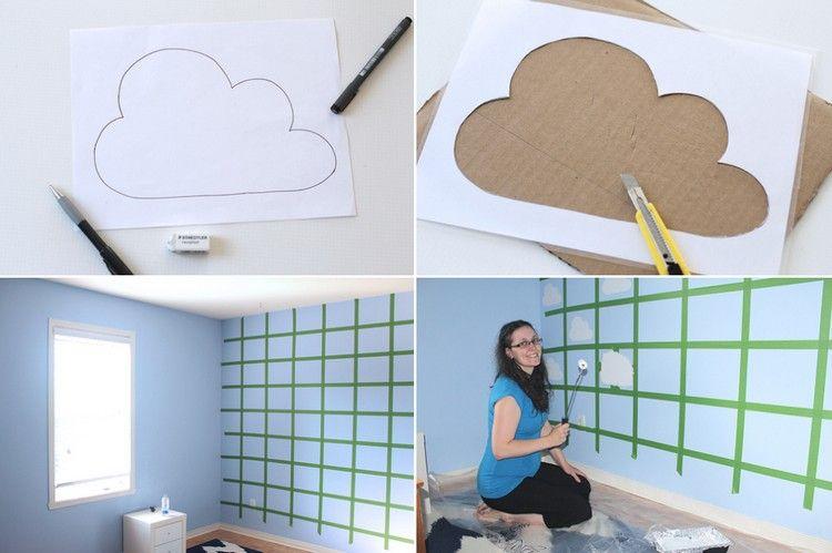 Wunderbar Wolken Im Kinderzimmer Selber Malen