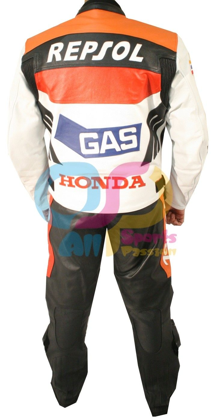 Motorcycle Motorbike Repsol Pant in Cowhide Leather