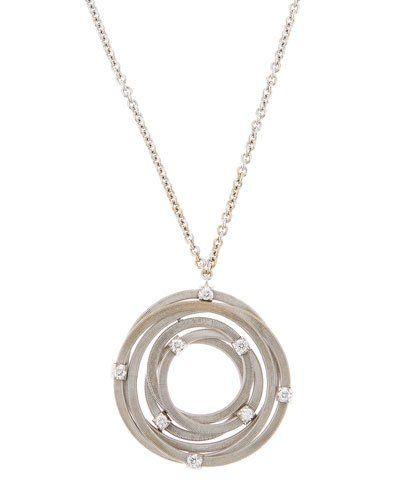 Goa 18k Large Diamond Interlocking Pendant Necklace