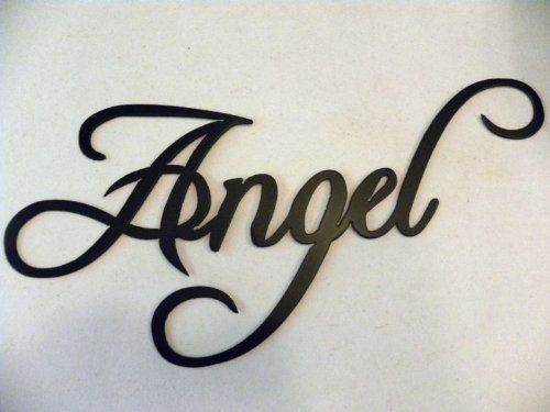 Angel Word 21 Decorative Metal Wall Art Home by sayitallonthewall, $24.99