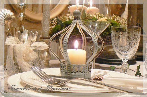 """Fourchettes et Porcelaine: TABLE """"AMBIANCE GUSTAVIENNE"""""""