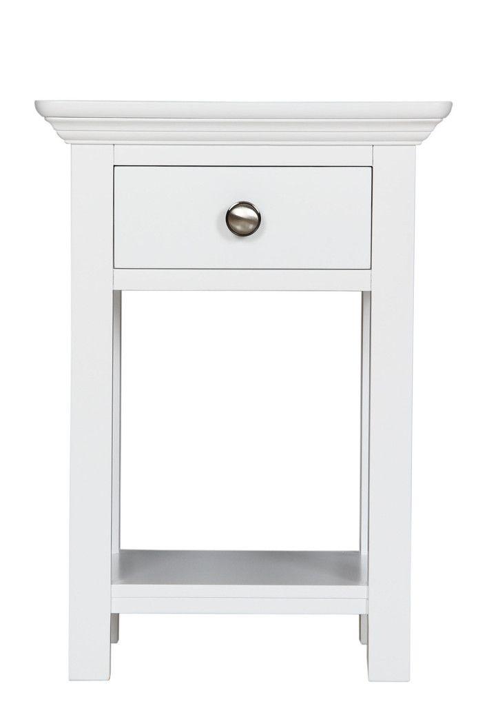 Berkeley Elegance High Quality Ivory 1 Drawer Bedside Table