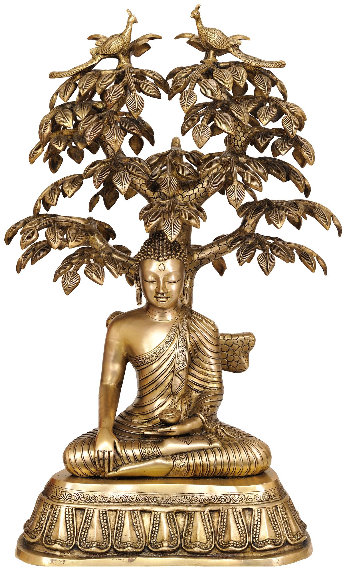 The tree of life meaning in buddhism symbols and meanings pinterest large size nirvana buddha under the tree of life brass brass statue buycottarizona Image collections