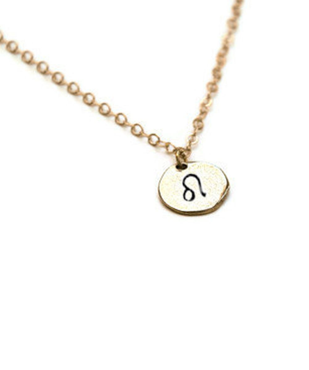 Leo Gold Zodiac Charm from Gold Plume Jewelry  d684f2901