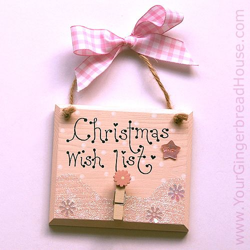 Your gingerbread house christmas signs handmade wooden for Wood plaques for crafts