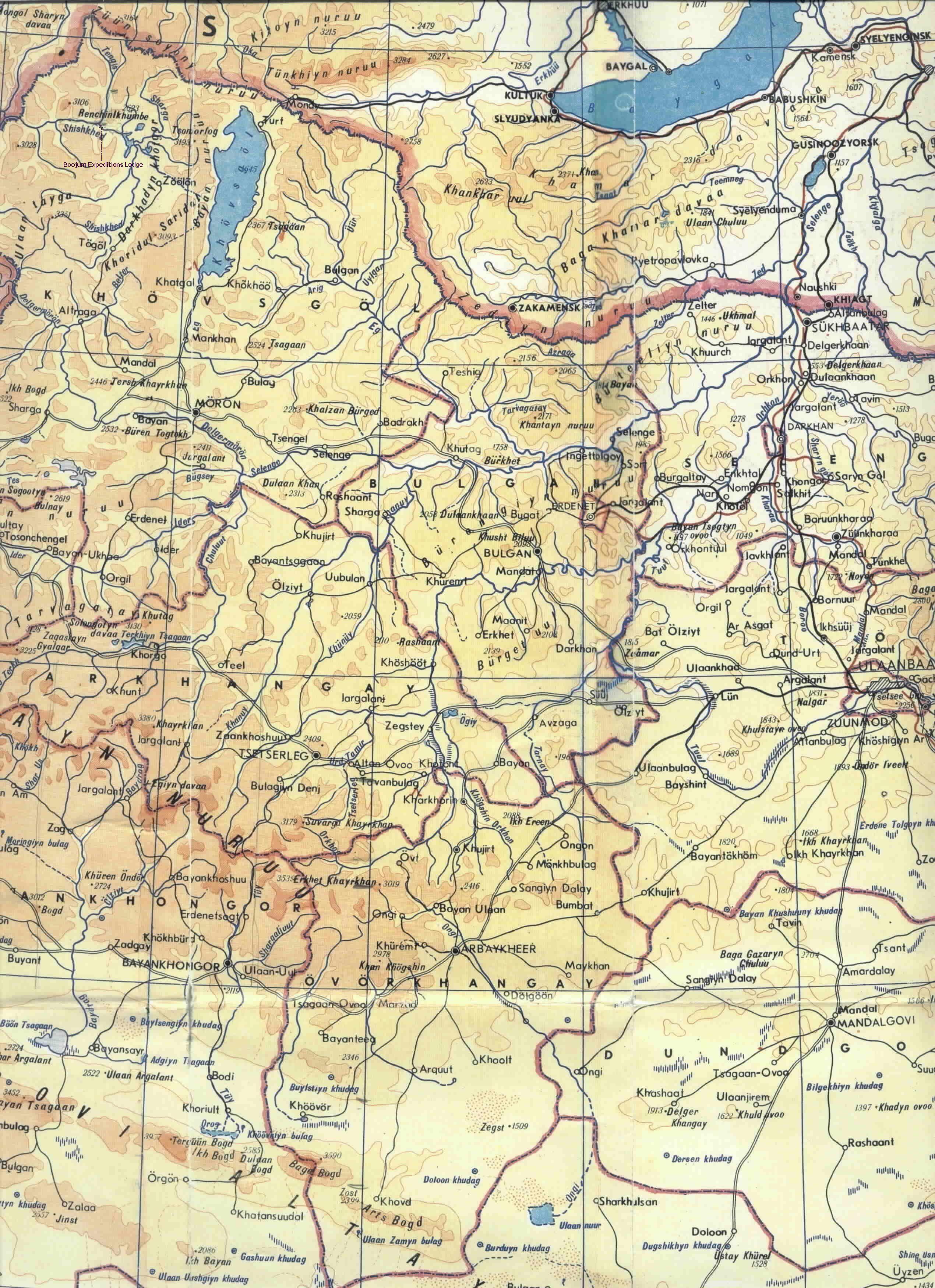 Central Mongolia Map Maps Pinterest Mongolia