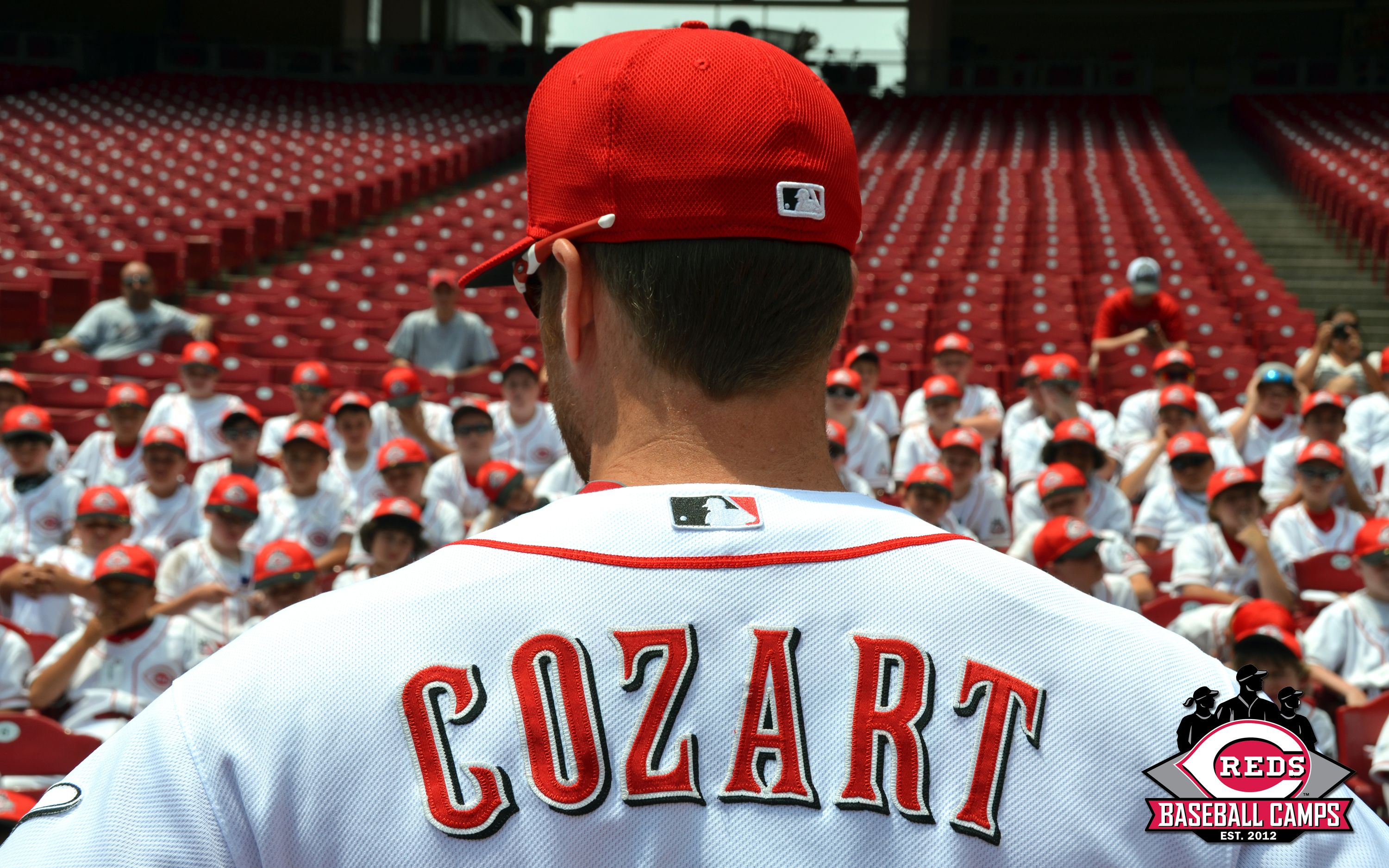 Zack Cozart And Others Came Out To Great American Ball Park To Greet The Campers As Part Of The Reds Baseball Camps With Images Reds Baseball Baseball Camp Cincinnati Reds
