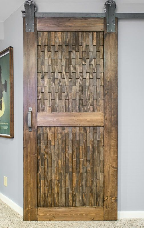 How To Build A Barn Door With Plywood And 1x6 Boards Diy Sliding