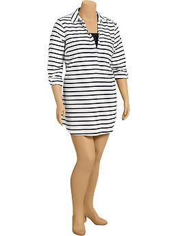 57bf71d06e506 Women s Plus Striped Swim Cover-Ups