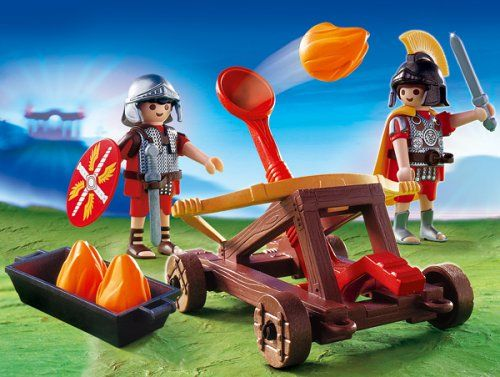 playmobil® 4278  feuerkatapult  playmobil römer
