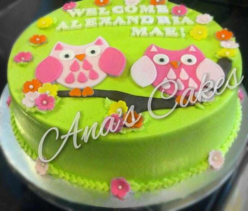 Owlssss cake
