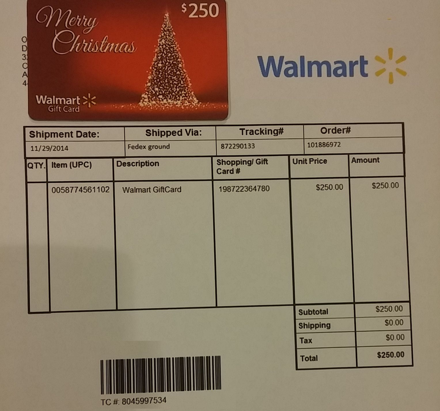Consolidating walmart gift cards