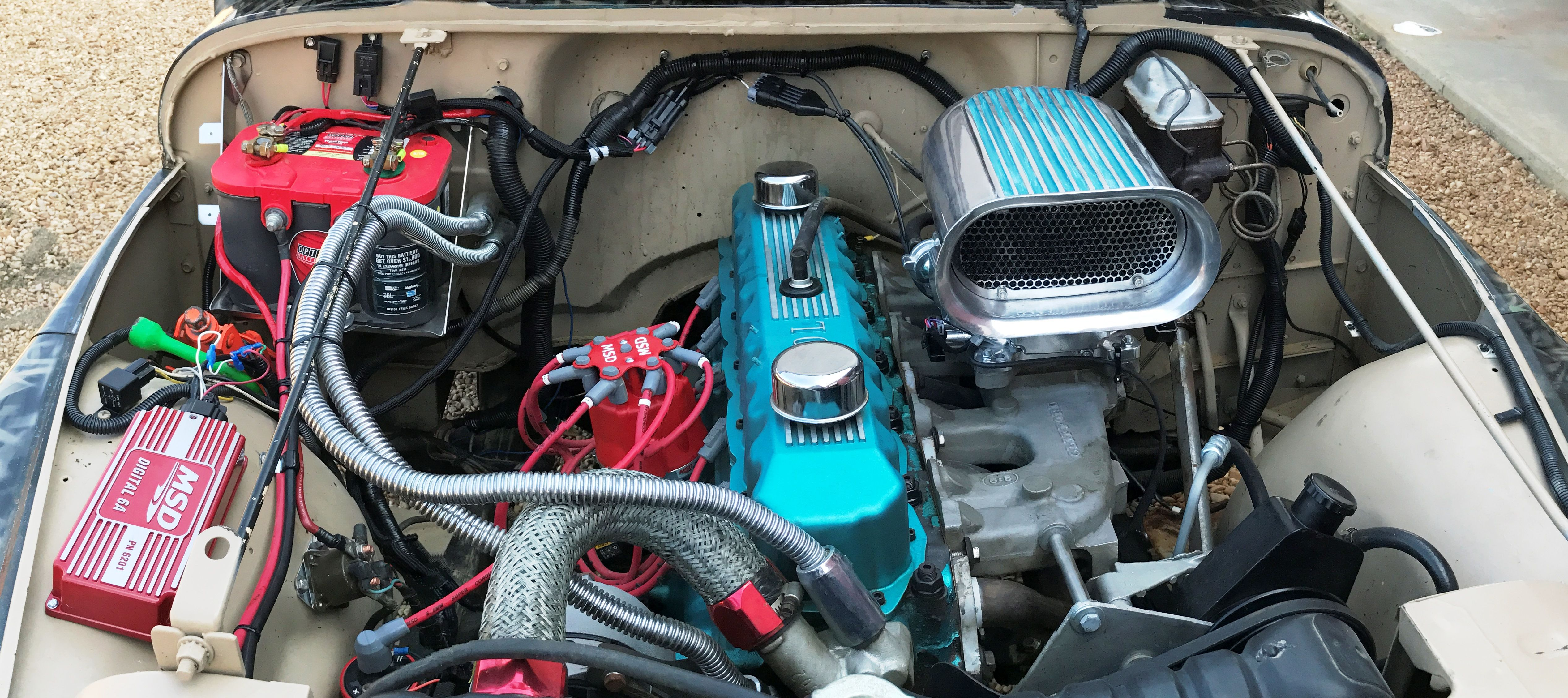 small resolution of jeep inline 6 holley sniper efi msd pro billet distributor msd 6a ign 4 0 clearwater head borla ss header