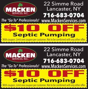 MACKENZIE SERVICES Coupons