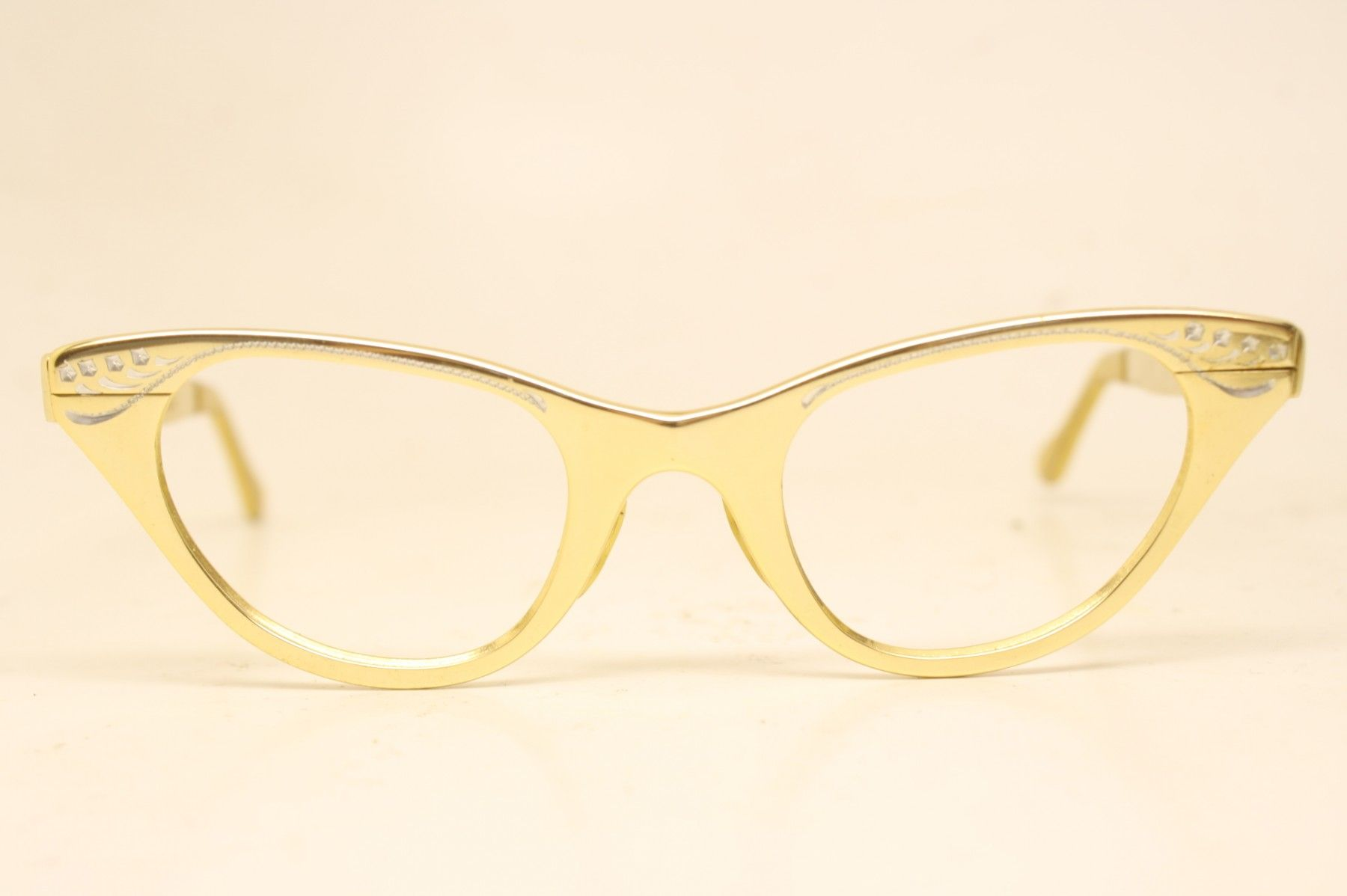 44690695908cc Beautiful Unused pair of authentic vintage woman s cat eye glasses. In  great condition