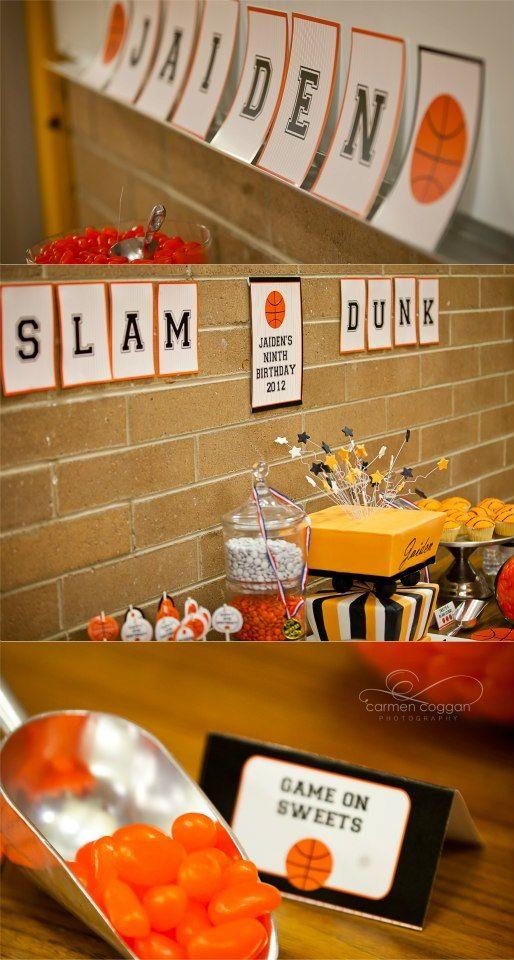 basketball party simonemadeitcom basketball birthday