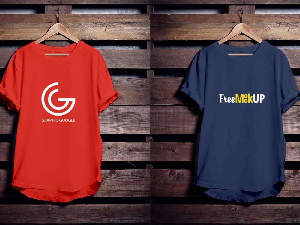 Polo T Shirt Mockup Front And Back Psd Free Hanging T Shirt Free Psd Mockup Mockup Shirts
