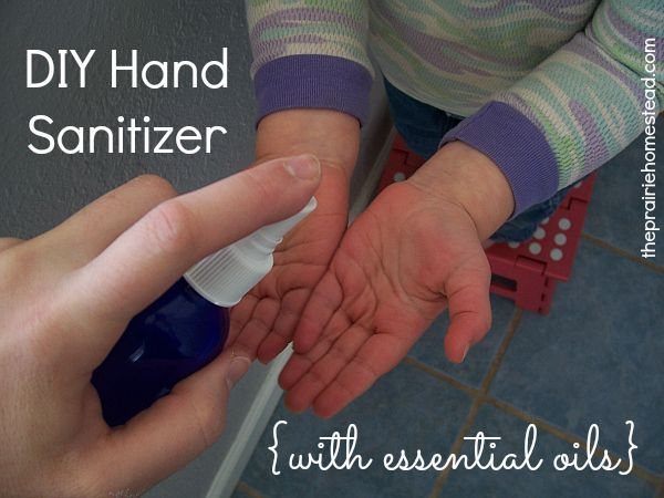 Homemade Hand Sanitizer with Essential Oils. Get the full recipe---> http://www.theprairiehomestead.com/2013/02/homemade-hand-sanitizer-with-essential-oils.html #essentialoils