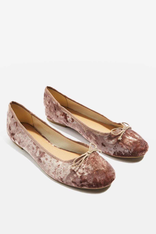 VISION Velvet Ballet Pumps - Shoes- Topshop