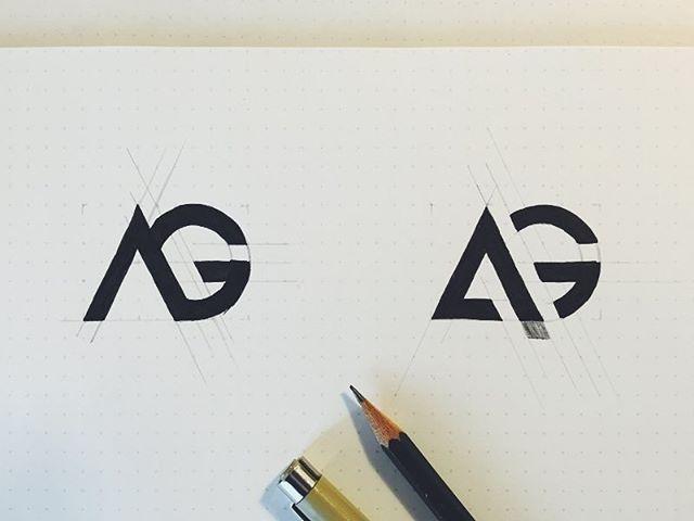logo inspiration ag logo sketch by maxime siméon maximesimeon hire
