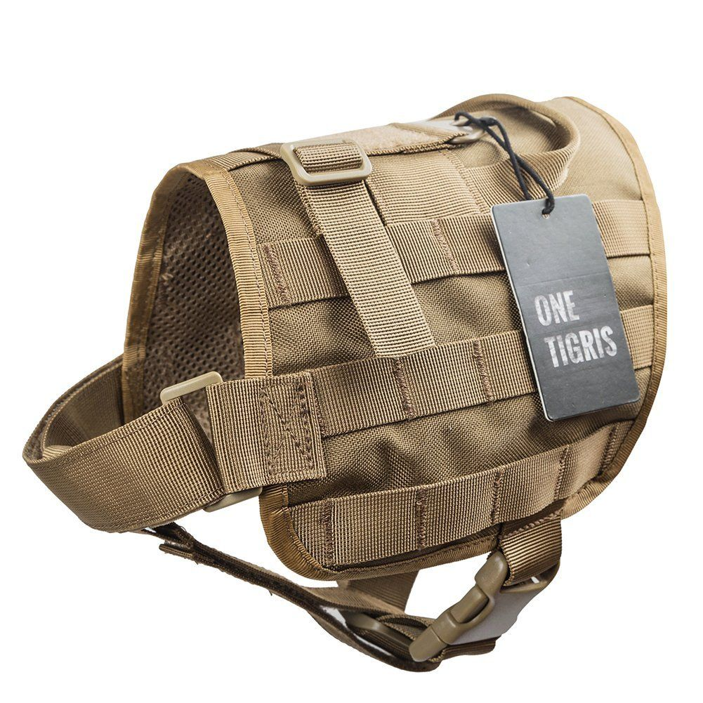 Onetigris Tactical Dog Training Vest Molle Compact Vest Harness Learn More By Visiting The Image Link Thi Dog Training Vest Greyhounds Clothes Dog Travel