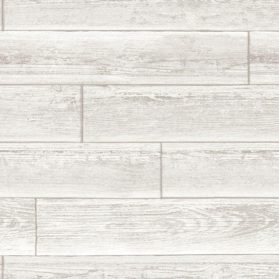 Nuwallpaper 30 75 Sq Ft Cream Vinyl Scenic Self Adhesive Peel And Stick Wallpaper Lowes Com Nuwallpaper Wood Wallpaper Cream Wallpaper