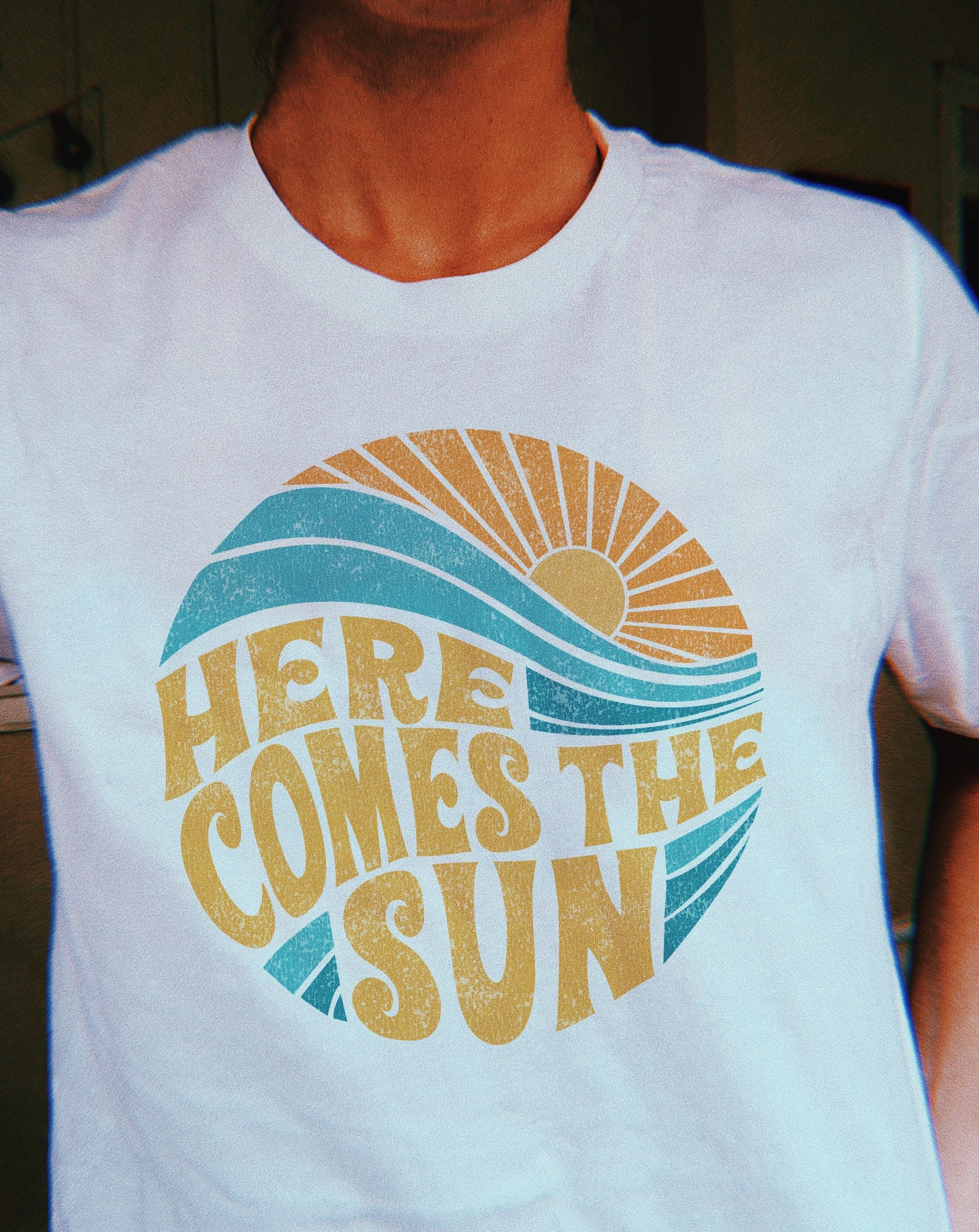 Here Comes The Sun Tee Graphic Tees Vintage Vintage Shirt Design Graphic Tee Style