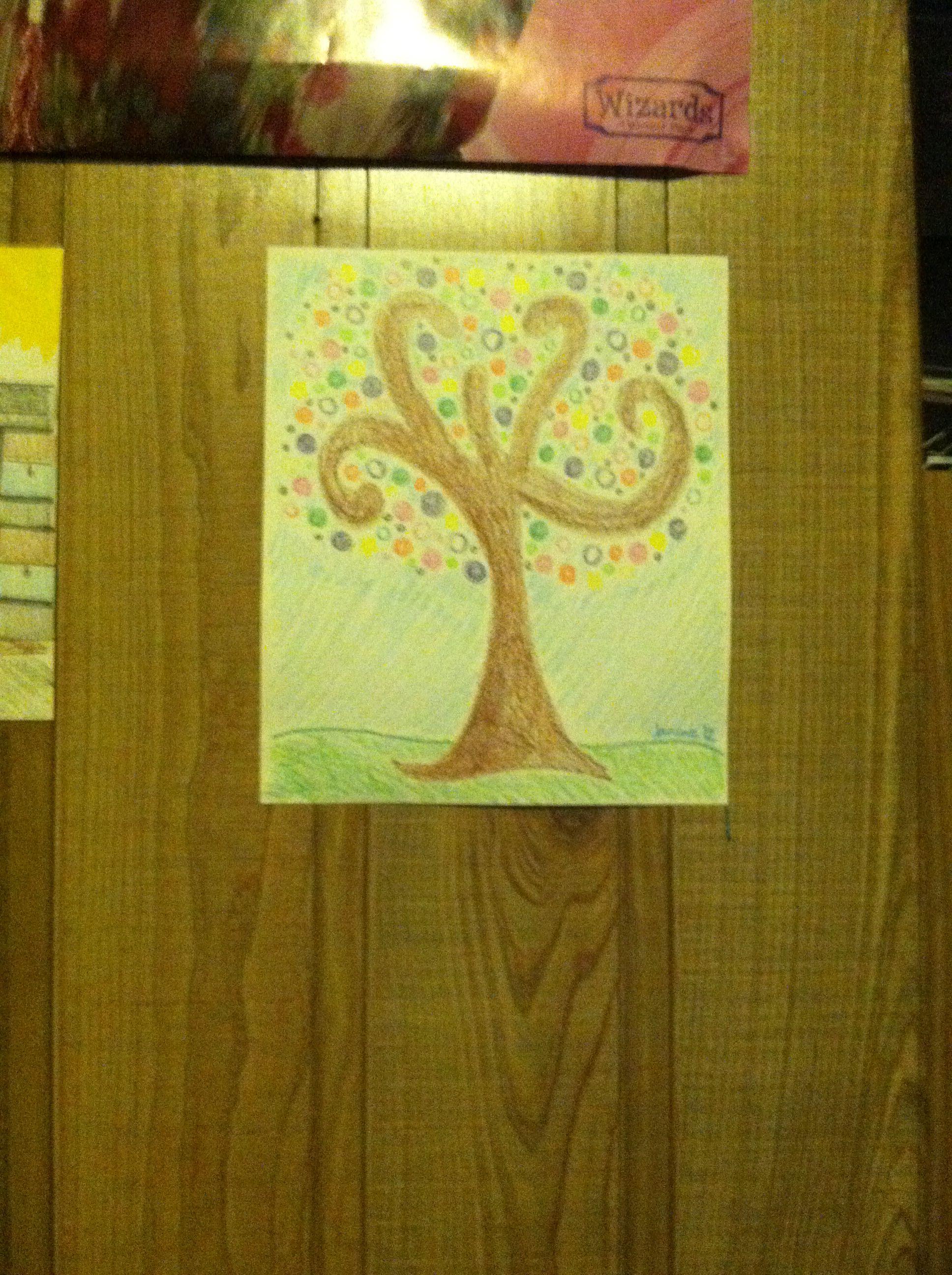 What a fantastic tree Janine drew.