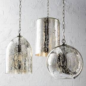 Mercury Glass Bell Pendant Silver Threshold Target Mercury Glass Pendant Light Glass
