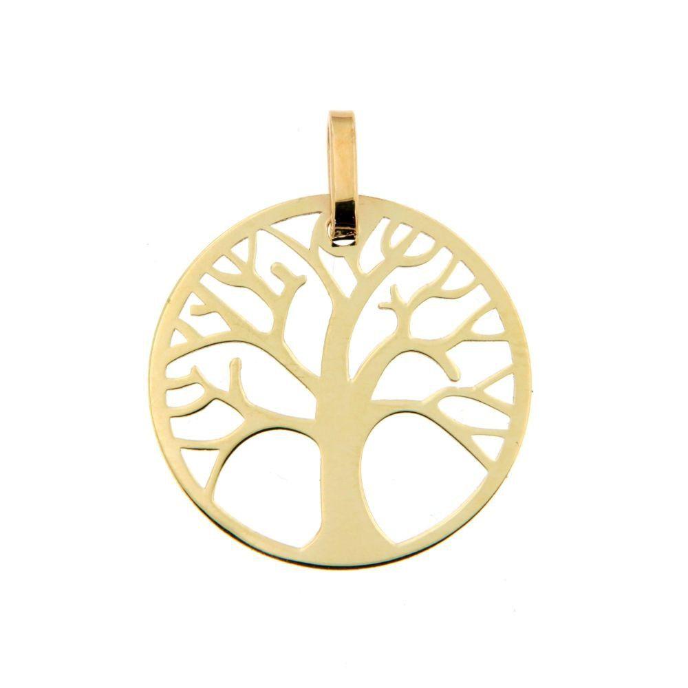 Notre coup de coeur ! Jolie médaille arbre de vie en Or jaune 9 carats, parfaite comme cadeau de naissance ! #bijoubébé #terredebijoux #naissance