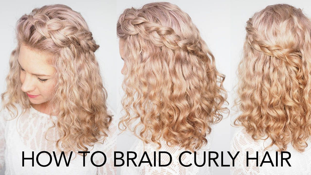 Hairstyles For Curly Hair With Braids Braids Curly Hairstyles Hairstylesforcurlyhair Curly Hair Styles Easy Curly Hair Styles Curly Hair Braids