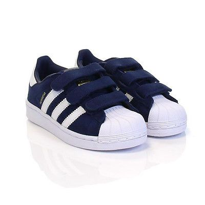 online store 9242e 58f38 ... Adidas Superstar CF Child S74906 Navy Blue Straps Little Kids Shoes Size  2.5 .