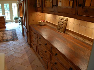 Bar Countertop Ideas | Rustic Style Wood Countertops, Table Tops and ...