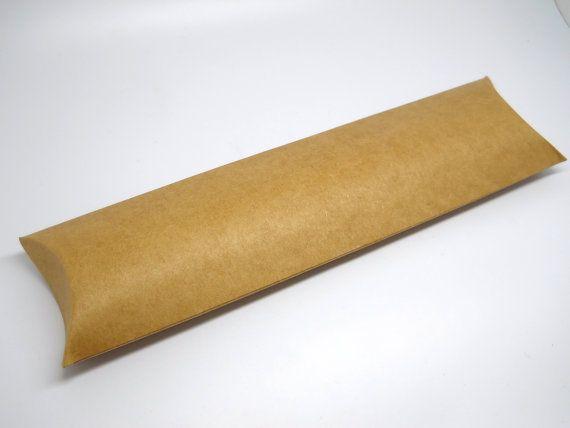 kraft pillow box qty 10 treat tube