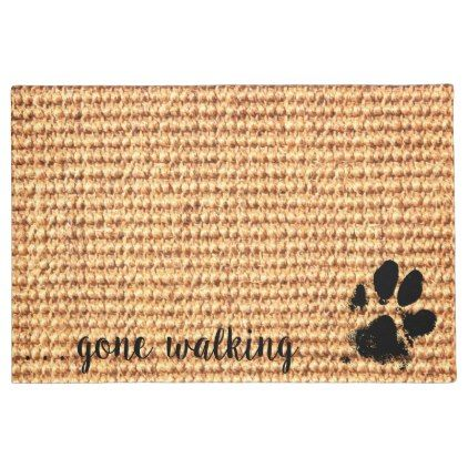 Exceptional Shop Paw Print Doormat   Personalized Doormat   Dog Paw Created By  BlackDogArtJudy.