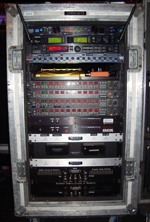 James Hetfields LIVE Touring Rig with MesaBoogie Triaxis