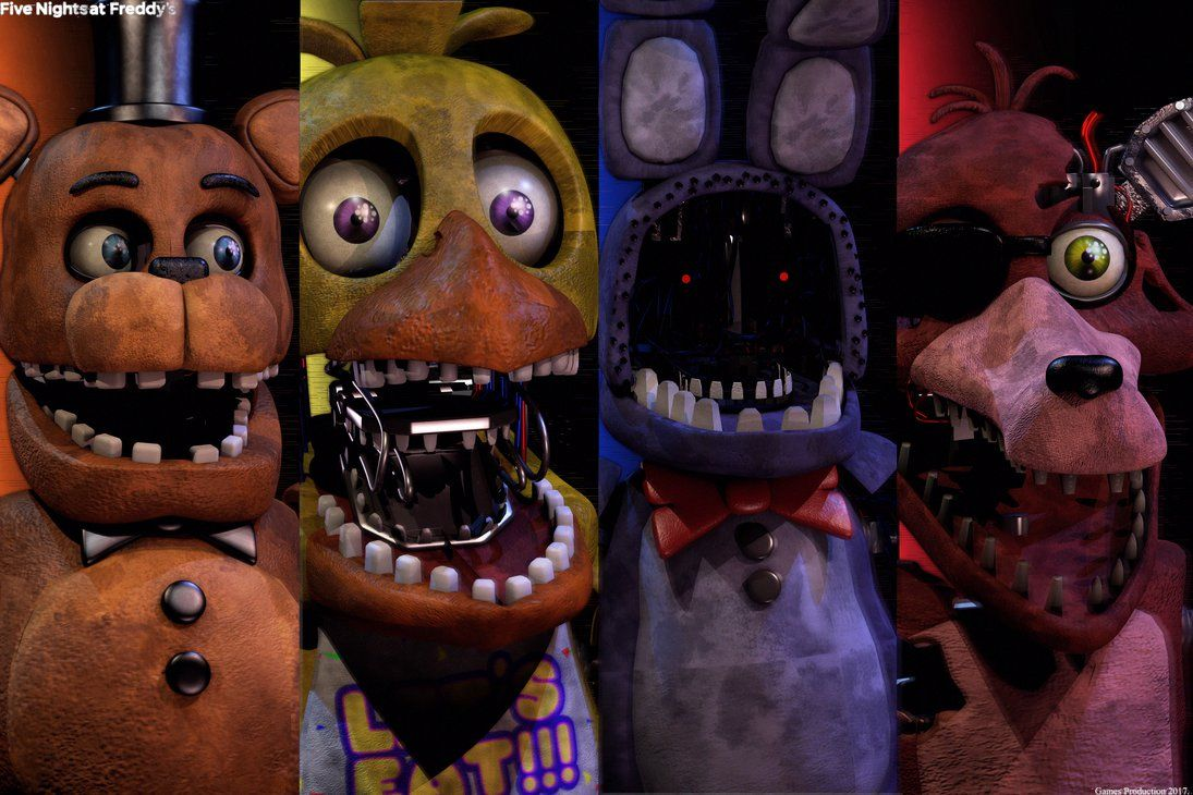 Fnaf 2 Withered Gang By Gamesproduction Freddy Y Sus Amigos