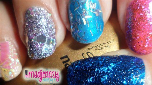 Glitter Nails! by madjennsy - Nail Art Gallery nailartgallery.nailsmag.com by Nails Magazine www.nailsmag.com #nailart