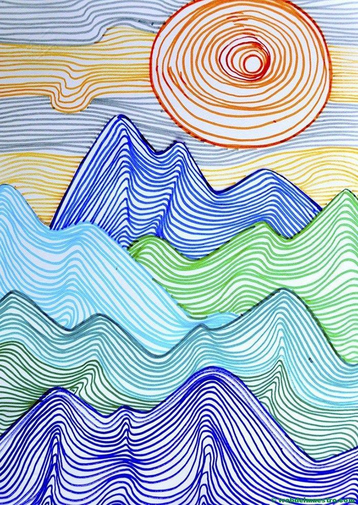 Dibujos Con Lineas Dibujos En 3d Para Ninos Web Del Maestro Obras De Arte Ninos Dibujo Con Lineas Trabajos De Arte