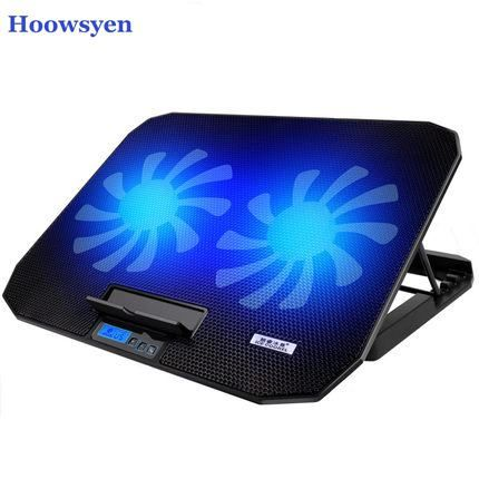 14 6 17 Inch Laptop Cooling Pad Laptop Cooler Usb Fan With 2 Cooling Fans Light Notebook Stand And Quiet Fixtur Laptop Cooling Pad Laptop Cooler Laptop Stand