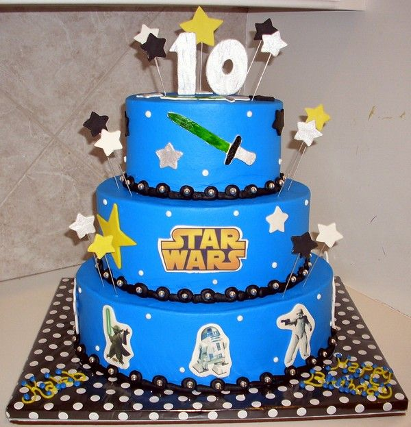 Happy 10th Birthday Birthday Messages For 10 Years Old Wishesgreeting Star Wars Birthday Cake Boy Birthday Cake 10 Birthday Cake