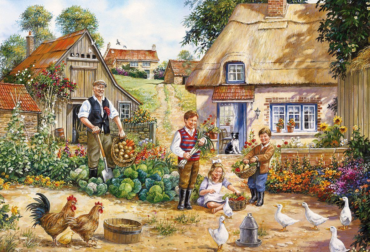 deba815077a6 Gibsons The Kitchen Garden Jigsaw Puzzles (2x500 Pieces): Amazon.co.uk:  Toys & Games