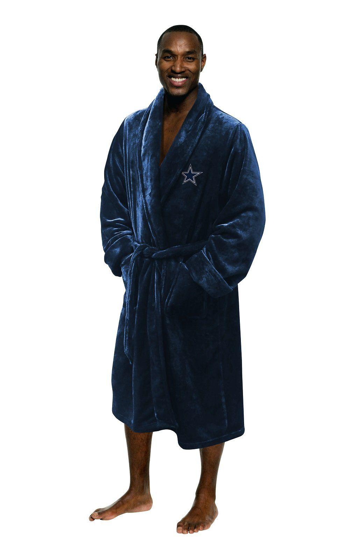 Dallas Cowboys Men's Silk Touch Plush Bath Robe made by Northwest