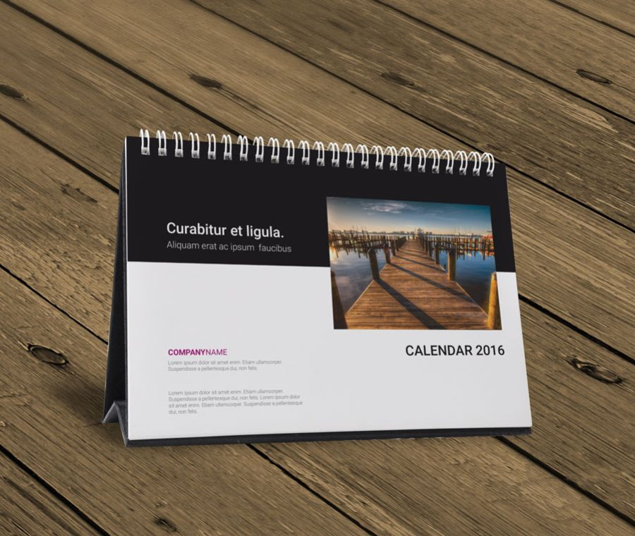 Table Calendar 2016 : Desk table tent calendar template design kb w ok