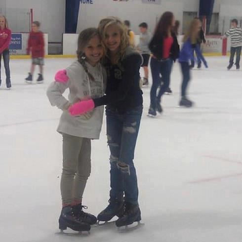 my sister and our best friend maddie zeigler Paige Hyland and Maddi Zeigler on dancemoms