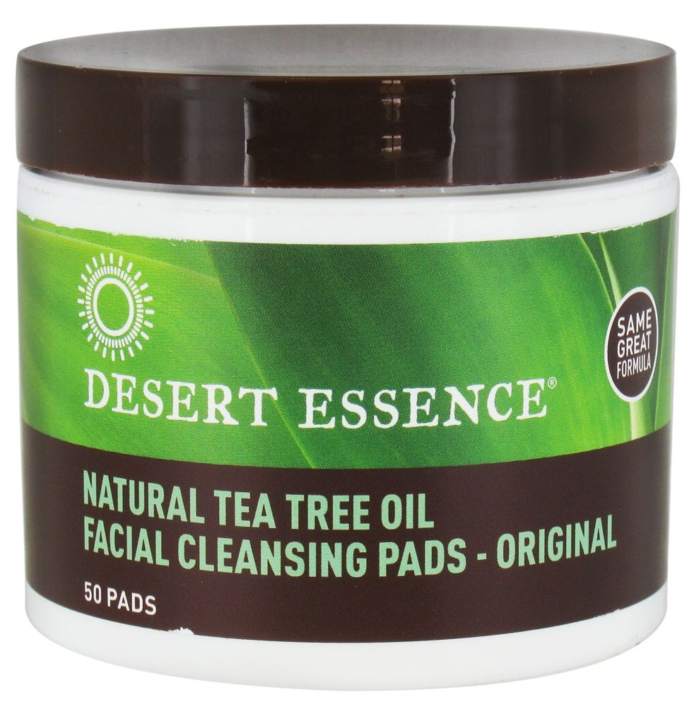 Desert essence natural facial cleansing pads with tea