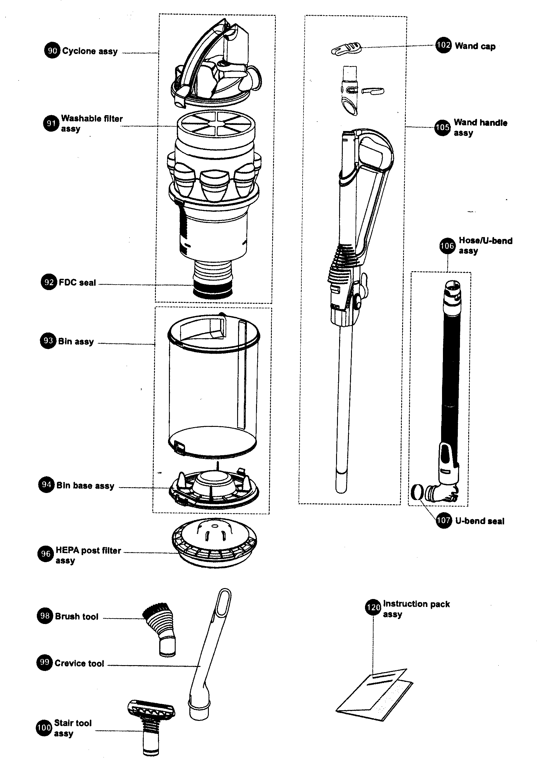 Dyson V6 Animal Parts Diagram | Reviewmotors.co on
